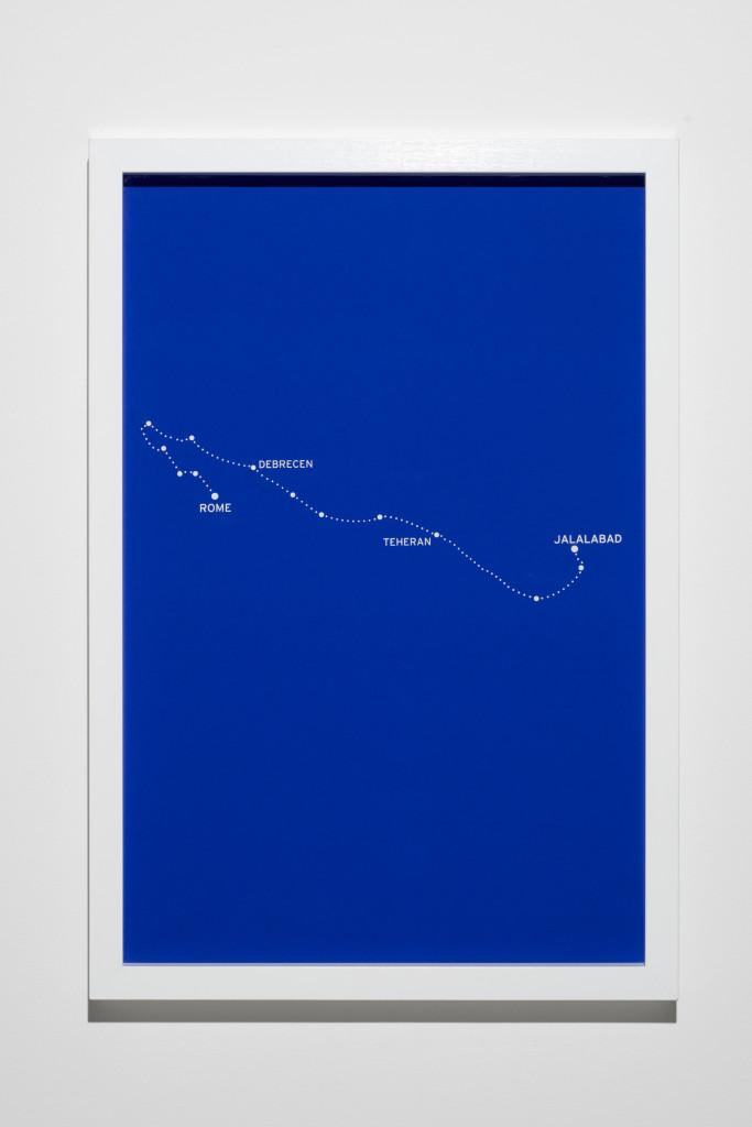 """The Constellations, Fig. 6."" 2011. From ""The Constellations Series"". 8 silkscreen prints on paper. 2011. Mounted on aluminium and framed. 62x42cm"