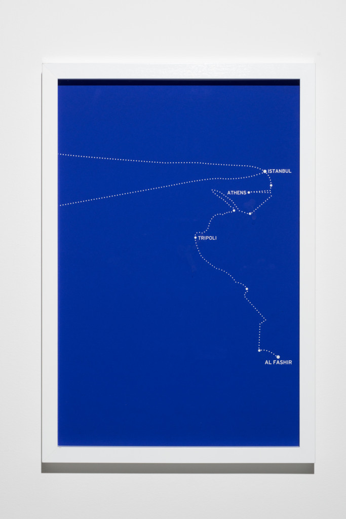 """The Constellations, Fig. 8."" 2011. From ""The Constellations Series"". 8 silkscreen prints on paper. 2011. Mounted on aluminium and framed. 62x42cm"